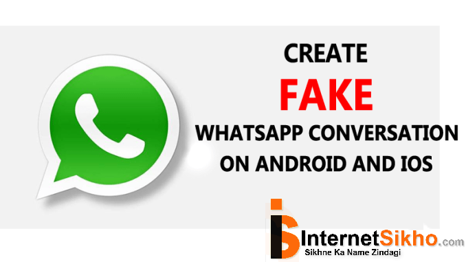 FAKE WHATSAPP CHAT KAISE KARE?HOW TO CREATE FAKE WHATSAPP CHAT?