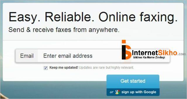 Online free fax कैसे भेजे ?