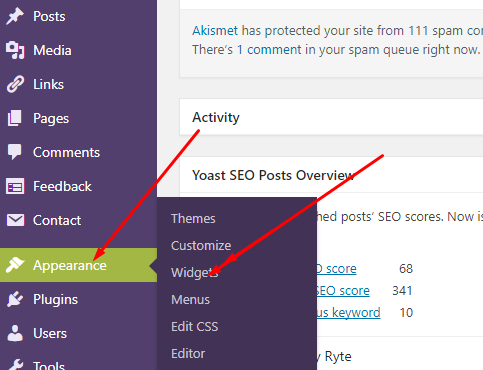 wordpress site back to top button