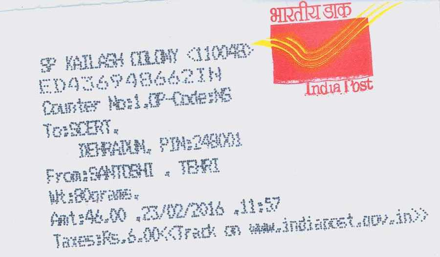how to write address on envelope for speed post