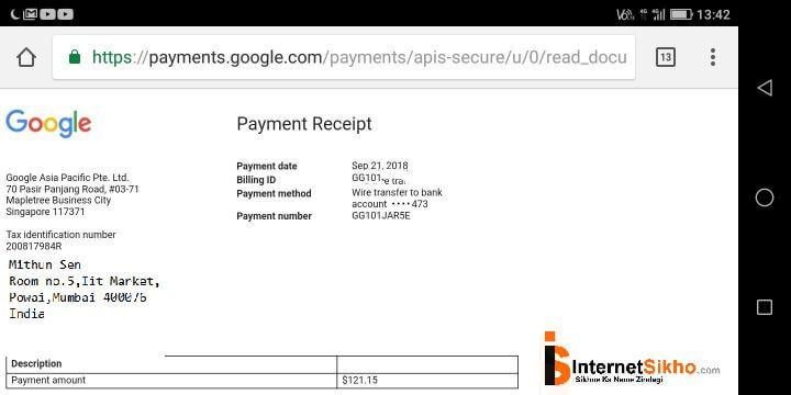 google से पैसा कामाने के लिए में क्या क्या किया था?