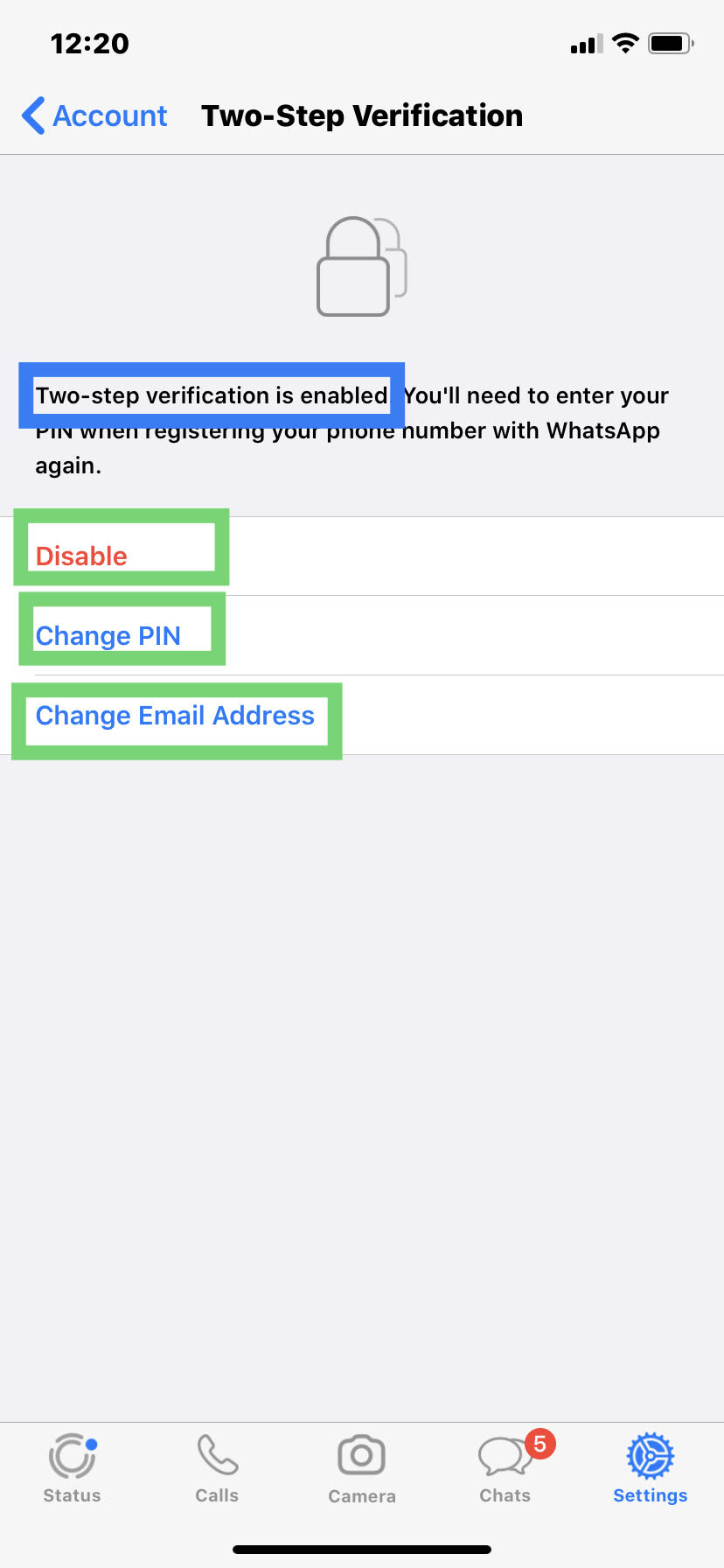 Whatsapp Account Mein Two Step Verification Enable Kaise Kare?
